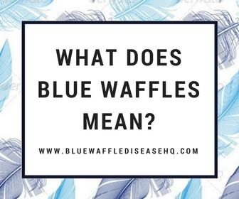 blue waffles image